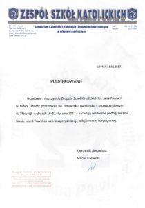 Referencje od Szkół Katolickich w Gdyni