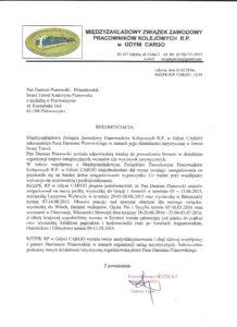 Referencje od PKP Cargo